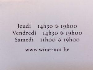 Wine-Not verso